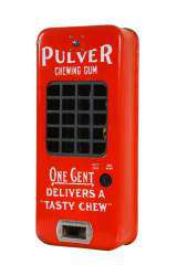 Pulver Chewing Gum the Coin-op Vending Machine