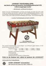 Leonhart-Tischfussballspiel the Coin-op Soccer Table