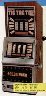 Goldfinger Tic Tac Toe Jackpot [Model 831] the  Slot Machine