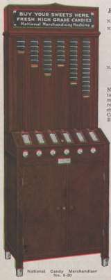 National Candy Merchandiser [Model 6-20] the  Vending Machine