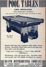 Goodies for Coin-Operated Pool Table