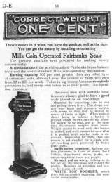 Goodies for Coin-Operated Fairbanks Scale