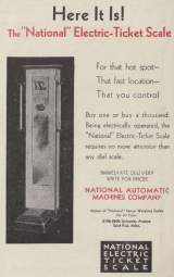 Goodies for National Electric Ticket Scale