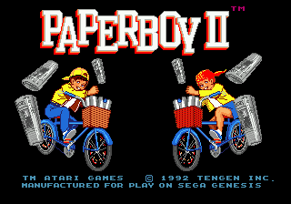 Paperboy II screenshot