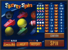 Sporty Spin screenshot