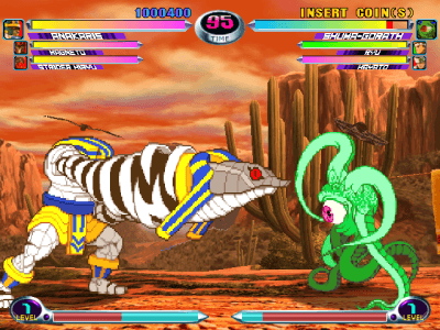 Marvel vs  Capcom 2: New Age of Heroes arcade video game by Capcom