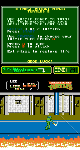 Teenage Mutant Ninja Turtles II - The Arcade Game [Model PCH1-R-2N] screenshot