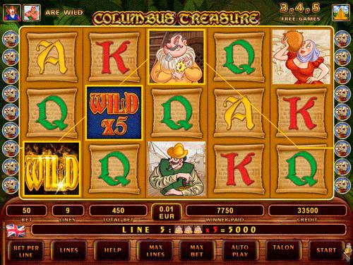 Columbus Treasure Slot Machine