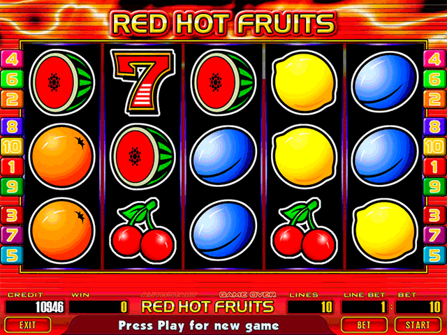 Red Hot Fruits screenshot
