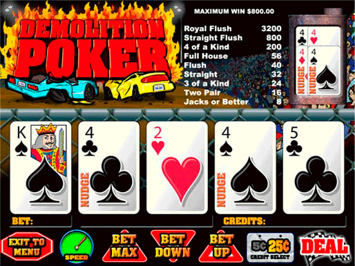 Demolition Poker screenshot