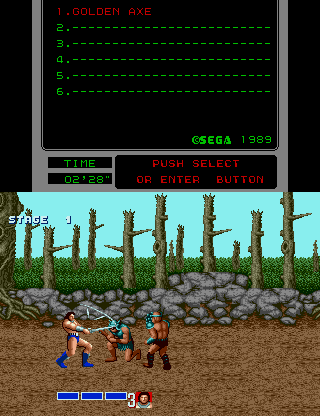 Golden Axe [Model 25] screenshot