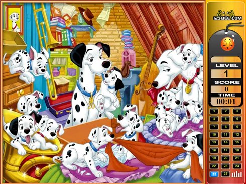 101 Dalmatians - Find the Numbers screenshot