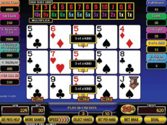 Big Times Draw Poker screenshot