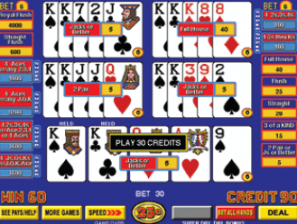 Super Triple Play Draw Poker screenshot