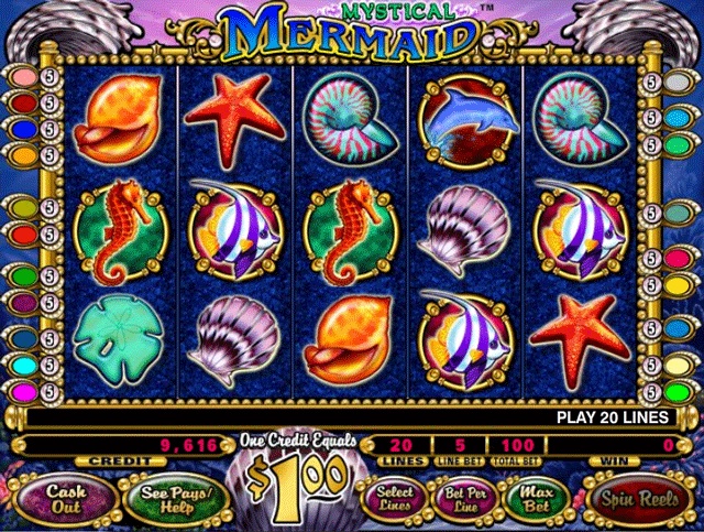 Lucky Mermaid Slot Machine - Play this Game for Free Online