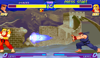 Street Fighter Zero [Green Board] screenshot