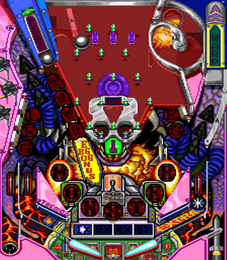 Super Pinball Action arcade video game by Tecmo (1991)