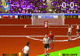 Super Visual Football - European Sega Cup screenshot