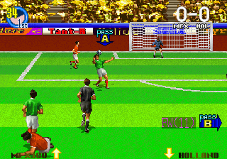 Super Visual Soccer - Sega Cup screenshot