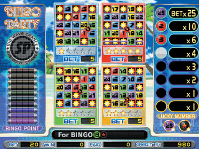 Bingo Party Splash screenshot