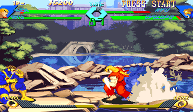 X Men Vs Street Fighter Capcom Cps Ii Cart By Capcom 1996