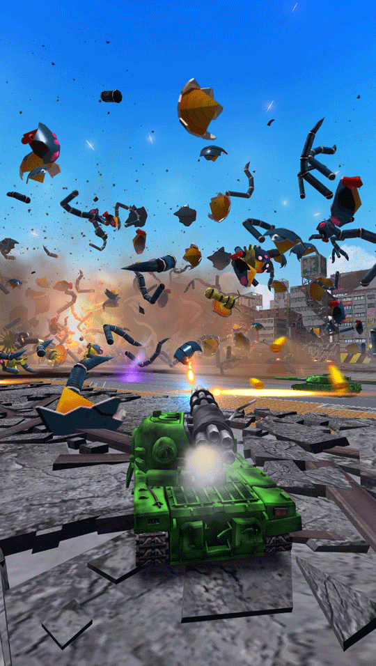 Tank! Tank! Tank Motion Cabinet Battle Party Game screenshot