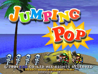 Jumping Pop Arcade Video Game Pcb By Esd 2001