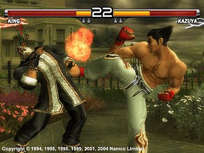 Tekken 5 arcade video game by NAMCO (2004)