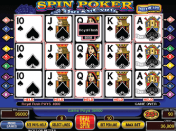 Spin Poker with Dream Card screenshot