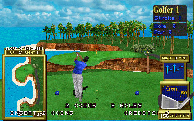 Golden Tee 3D Golf arcade video game by Incredible Technologies, Inc