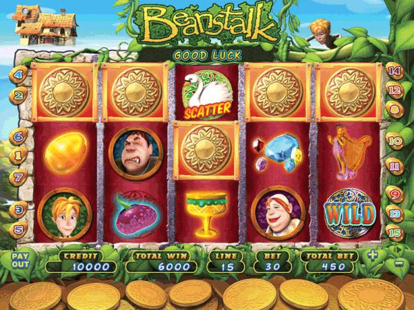 and the beanstalk slot machine