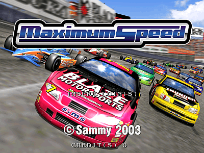 Arcade Auto Racing Games on Maximum Speed  Coin Op  Arcade Video Game  Sammy Corp   2003