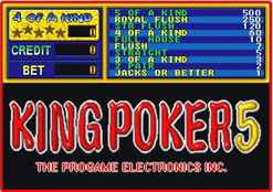 King Poker 5 [Model ICA149] screenshot