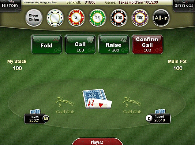 Texas Hold'em Poker Table screenshot