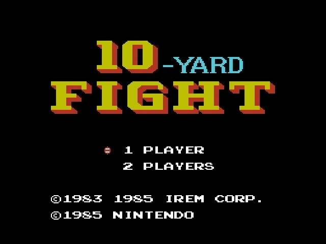 10-Yard Fight [Model NES-TY-USA] screenshot