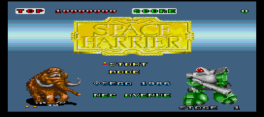 Space Harrier [Model H67G-1002] screenshot