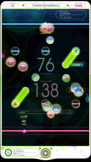 REFLEC BEAT limelight screenshot
