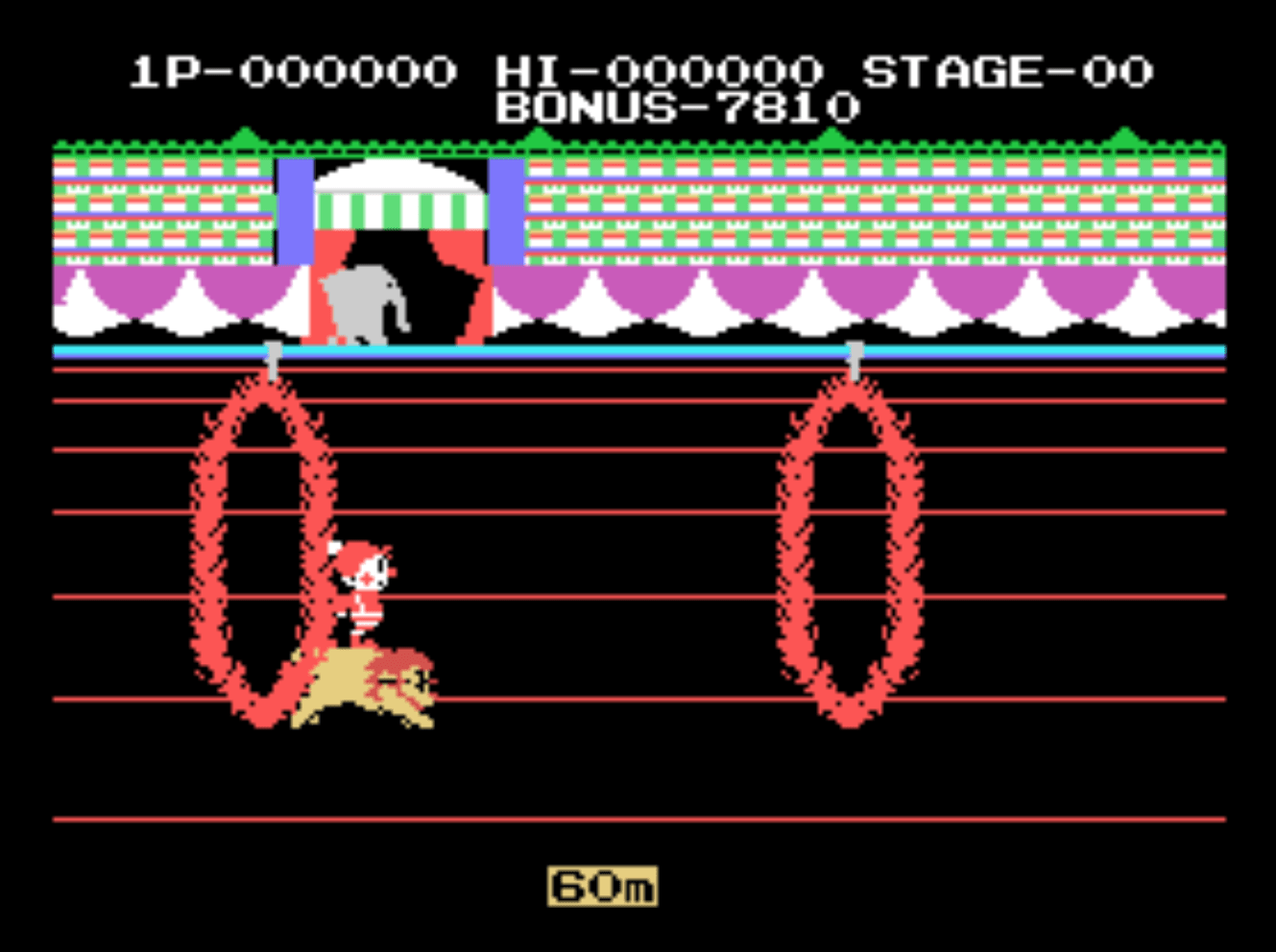 Circus Charlie screenshot