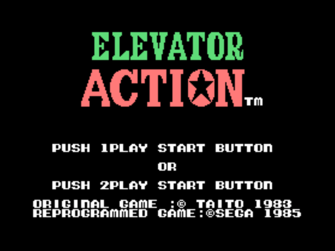 Elevator Action [Model C-55] screenshot