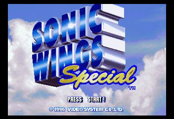 Sonic Wings Special [Model T-26402G] screenshot