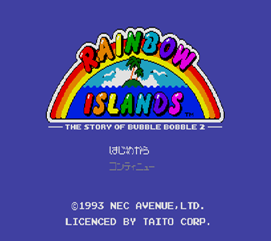 Rainbow Islands - The Story of Bubble Bobble 2 [Model NAPR-1012] screenshot