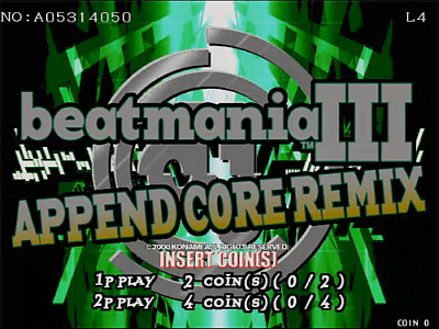 beatmania III APPEND CORE REMIX screenshot