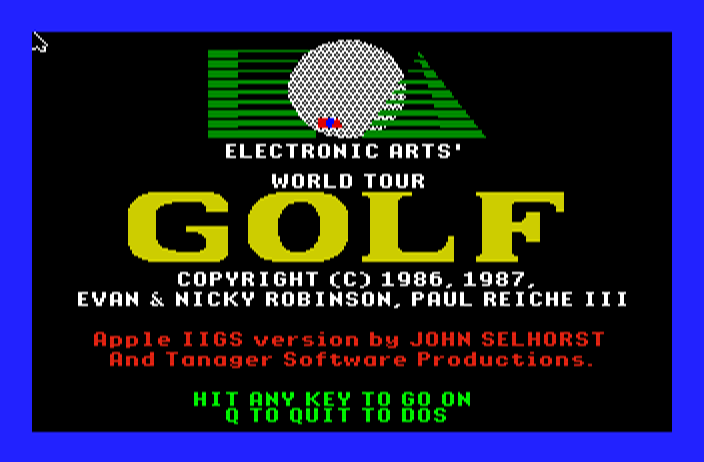 World Tour Golf screenshot
