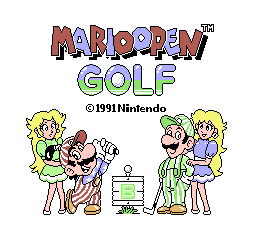 Mario's Open Golf [Model HVC-UG] screenshot
