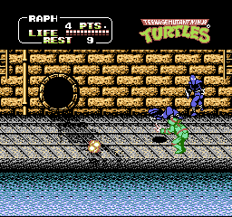 Teenage Mutant Ninja Turtles II - The Arcade Game [Model NES-2N-USA] screenshot