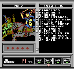 Where in Time is Carmen Sandiego? [Model NES-9K-USA] screenshot