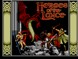 Advanced Dungeons & Dragons - Heroes of the Lance [Model 29003-50] screenshot