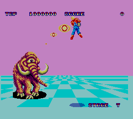 Space Harrier [Model 7080] screenshot