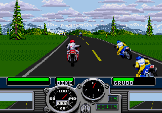 3 in 1: Road Rash + Ms. Pac-Man + Block Out screenshot