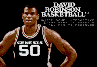 David Robinson Basketball screenshot